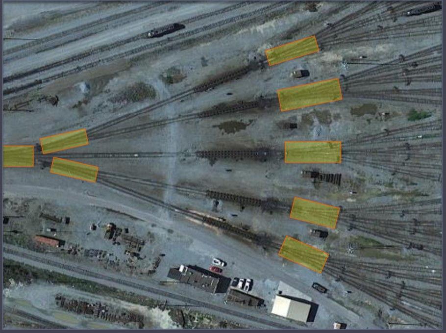 Обнаружение поездов на сортировочной станции