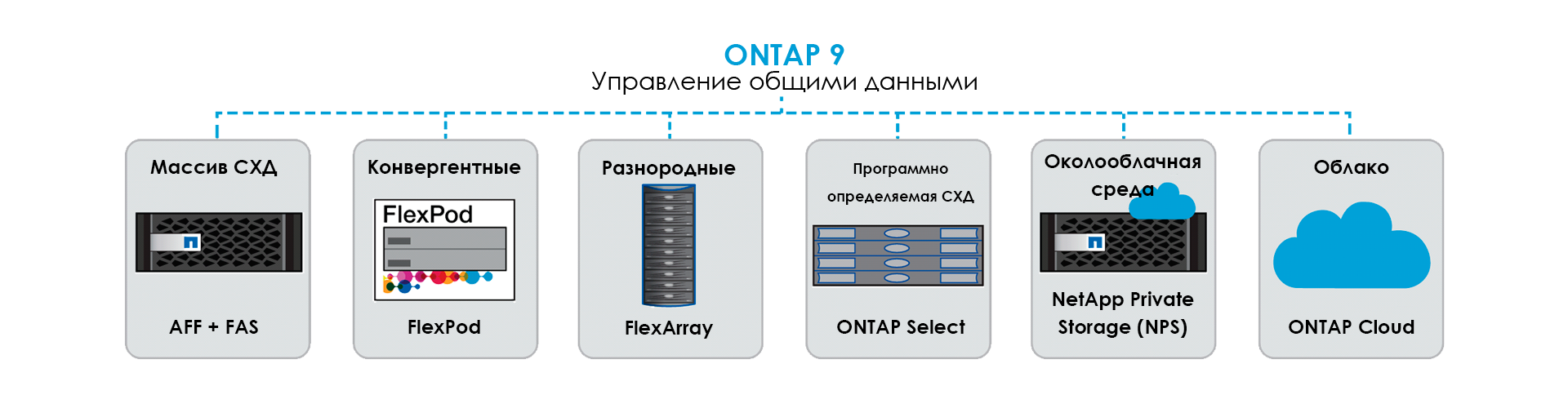 Программное обеспечение NetApp ONTAP 9 - Управление общими данными