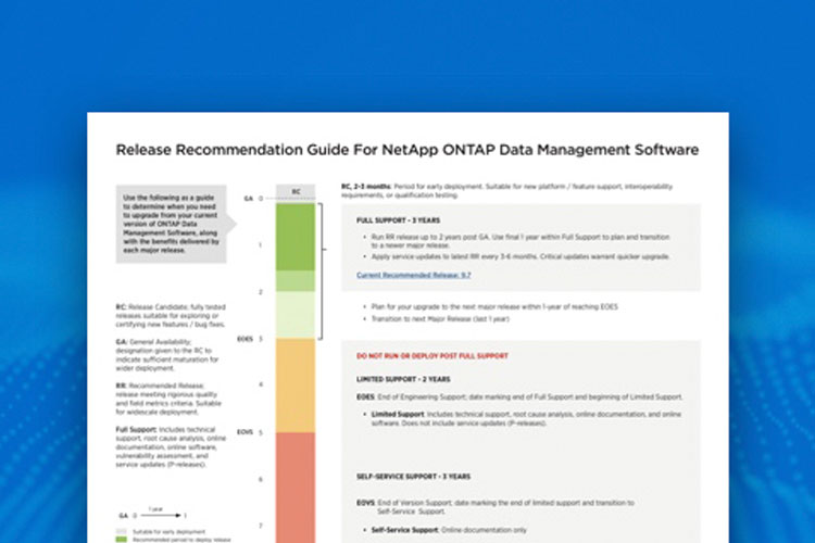 Recommendation Guide For NetApp ONTAP