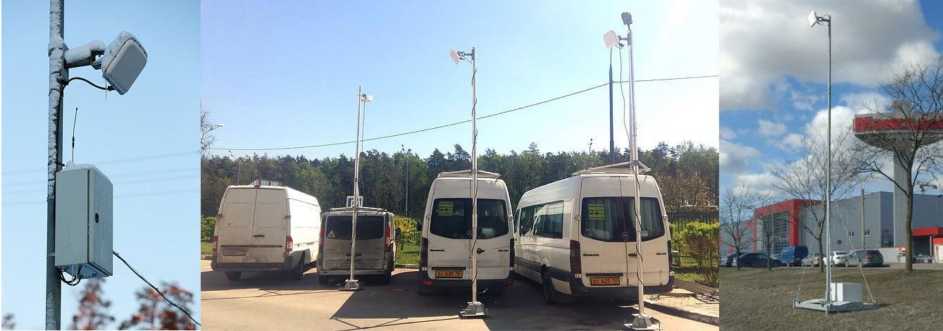 Стационарное и мобильное использование радарных датчиков Аркен